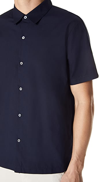 Theory Hybrid Mercerized Short Sleeve Shirt