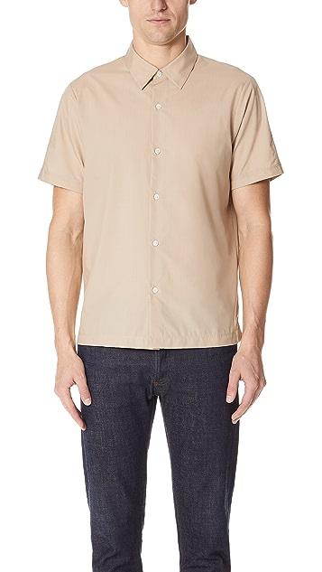 Theory Hybrid Mercerized Short Sleeve Shirt