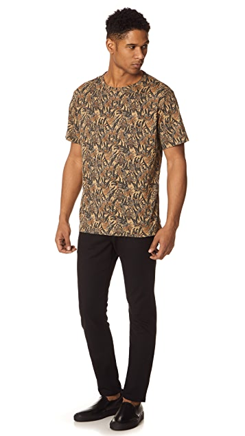 Theory Palm Print Box Tee