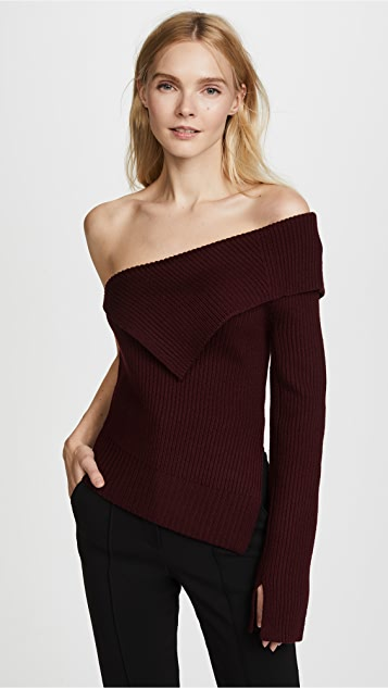Theory Off the Shoulder Sweater