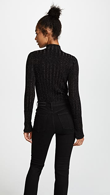 Theory Wide Rib Mock Pullover