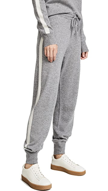Theory Athletic Stripe Lounge Pants