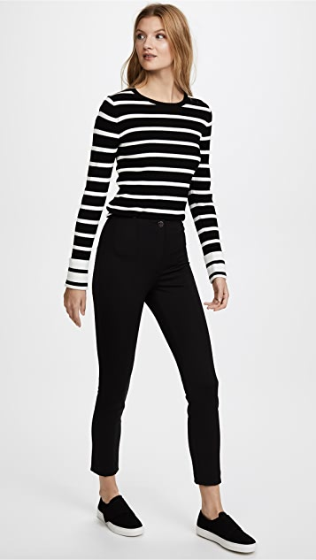 Theory Striped Crew Sweater