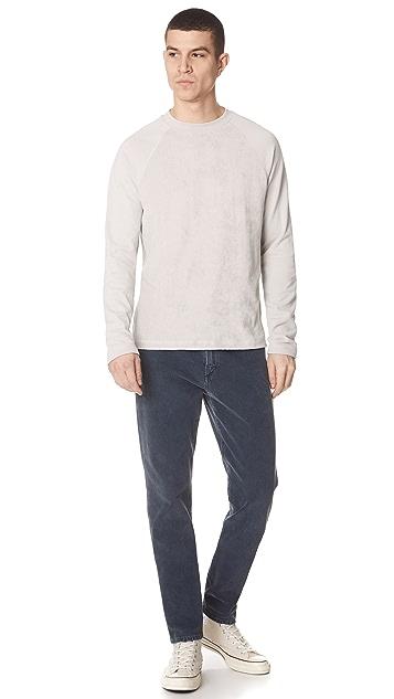 Theory Reverse Raglan Sweatshirt