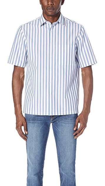 Theory Brunner Lounge Stripe Shirt