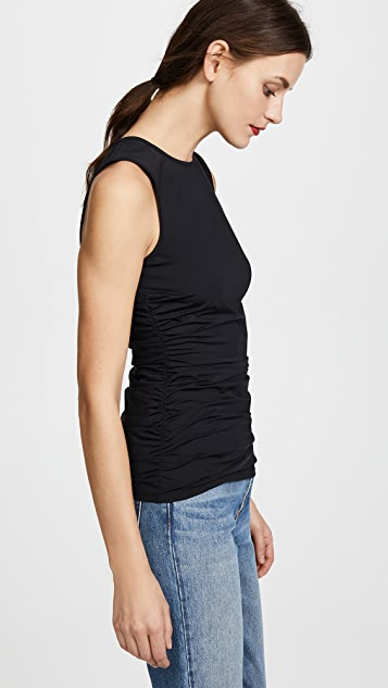 Theory Ruched Shell Top