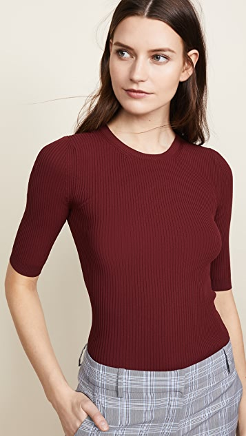 Theory Ribbed Crew Neck Tee