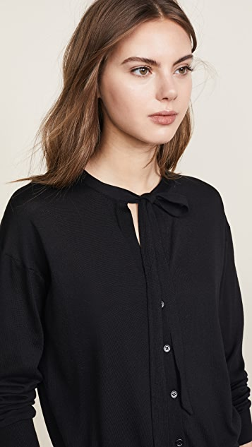 Theory Neck Tie Cardigan