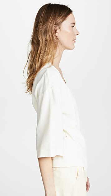 Theory Elevated Wrap Top