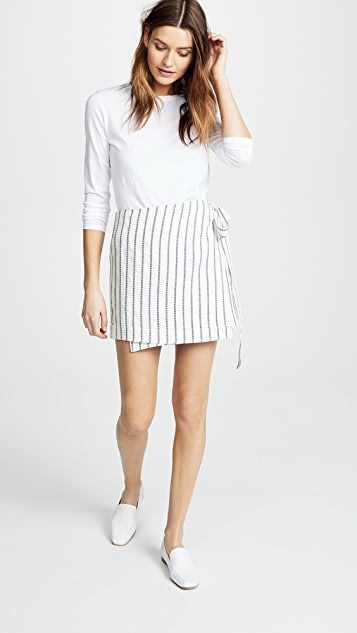 Theory Wrap Tie Skirt