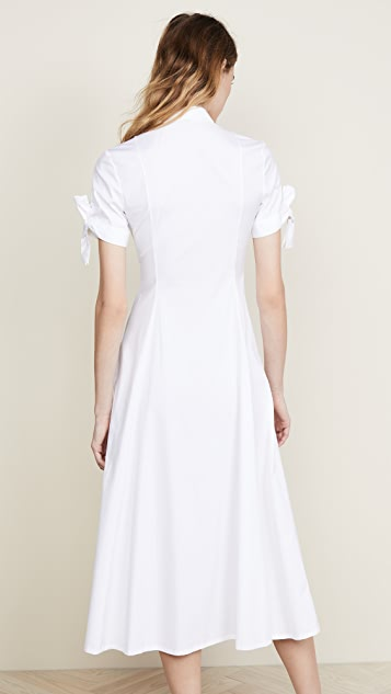 Theory Tie Sleeve Shirtdress