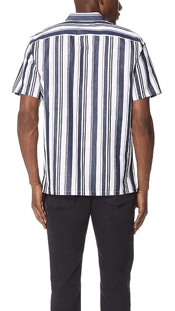 Theory Irving Striped Shirt