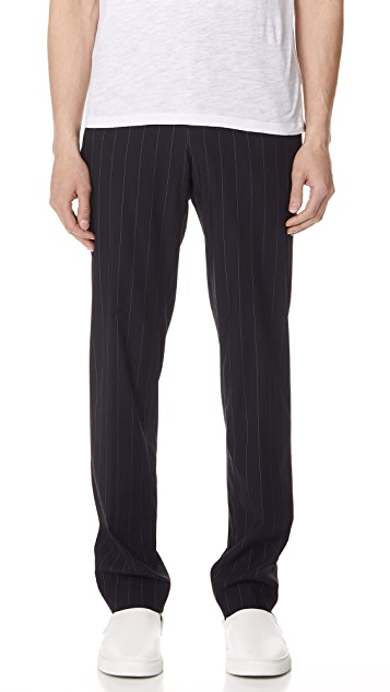 Theory Dashed Pinstripe Trousers