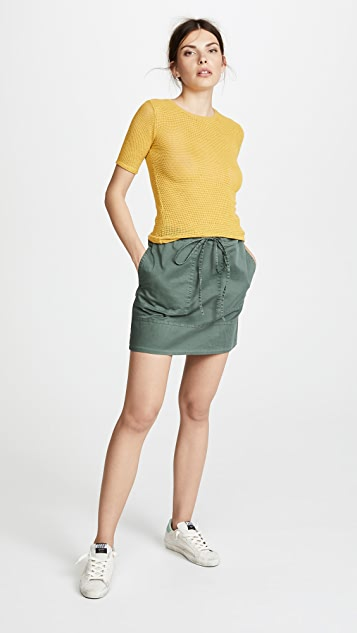 Theory Stitched Pocket Miniskirt