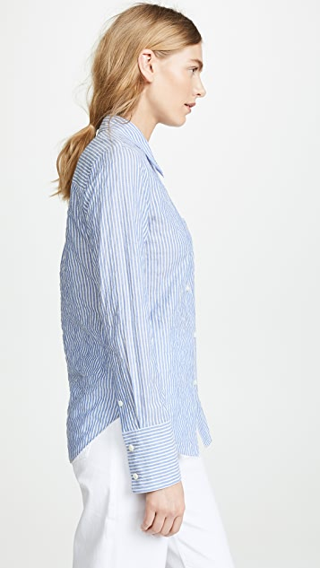 Theory Slim Collar Button Down Shirt