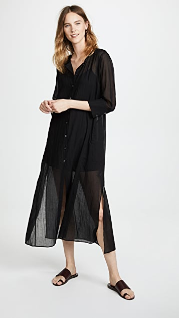 Weekend Button Down Maxi by Theory