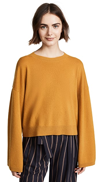Theory Wide Sleeve Cashmere Pull Over