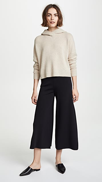 Theory Cashmere Crop Hoodie