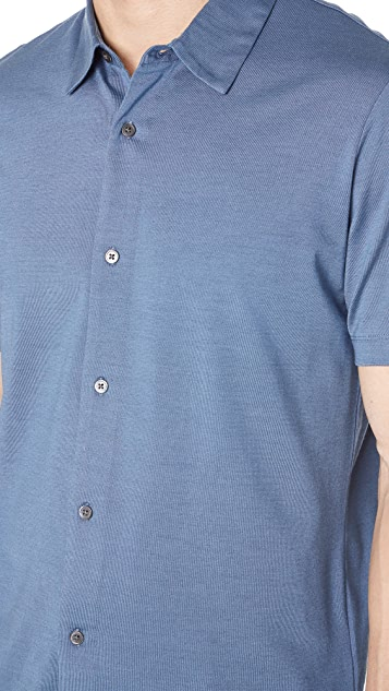 Theory Knit Short Sleeve Shirt
