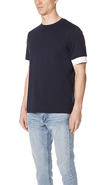 Theory Block Sleeve Tee