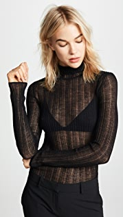 Theory Sheer Turtleneck Sweater