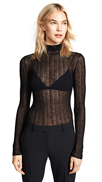 Theory Sheer Turtleneck Sweater