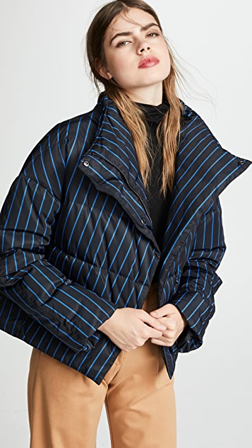 Theory Offset Puffer Coat