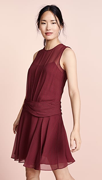 d90277b2c550 Theory Drape Flounce Mini Dress | SHOPBOP