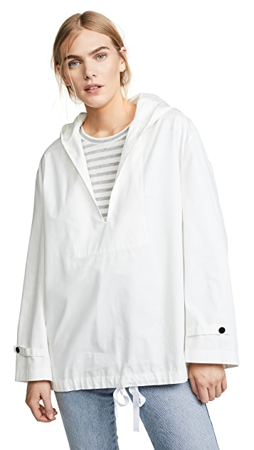 Theory Hooded Poncho with Tie