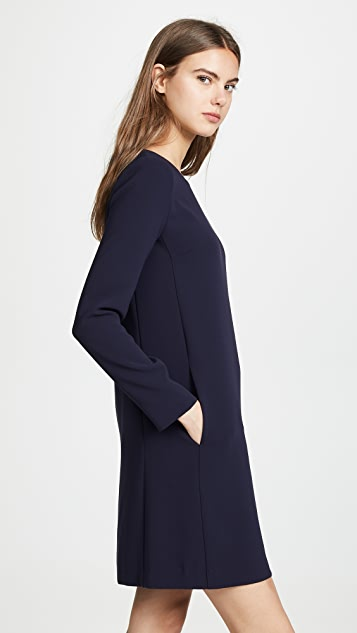 Theory Long Sleeve Paneled Shift Dress