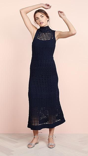 Theory Crochet Sweater Dress