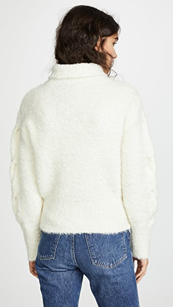 Theory Mohair Cable Turtleneck