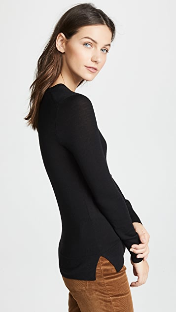 Theory Kralla Wool Long Sleeve Sweater