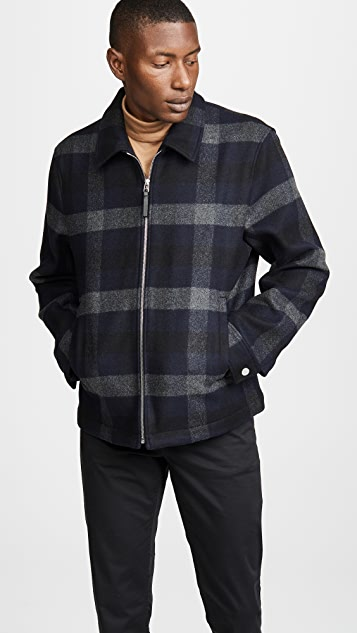 Theory Wyatt Mosaic Plaid Jacket