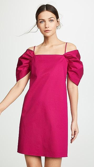 Theory 垂褶短袖连衣裙