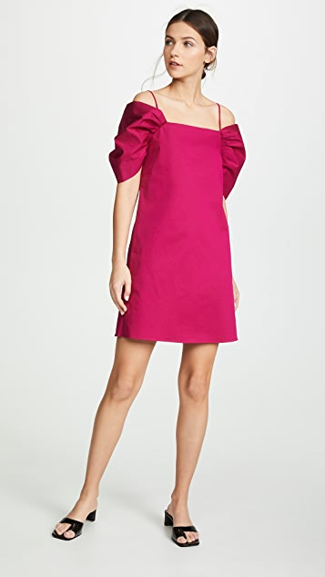 Theory Draped Shorts Sleeve Dress