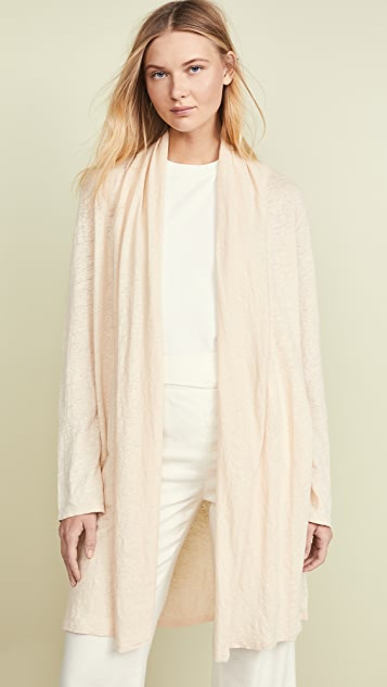 Theory Linen Shawl Cardigan