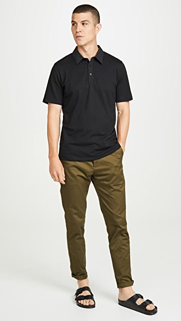 Theory Short Sleeve Tech Polo Shirt