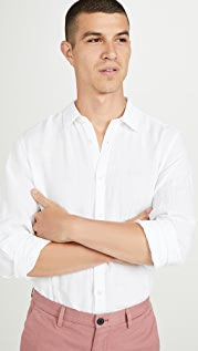 Theory Irving Long Sleeve Summer Linen Shirt