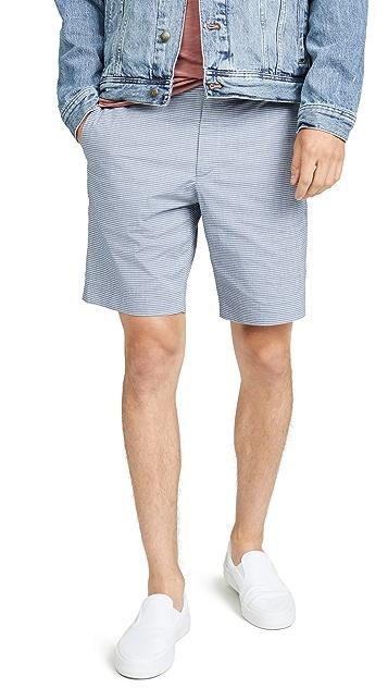 Theory Zaine Oxford Striped Shorts