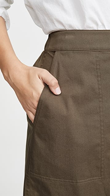Theory Stitched Pocket Skirt