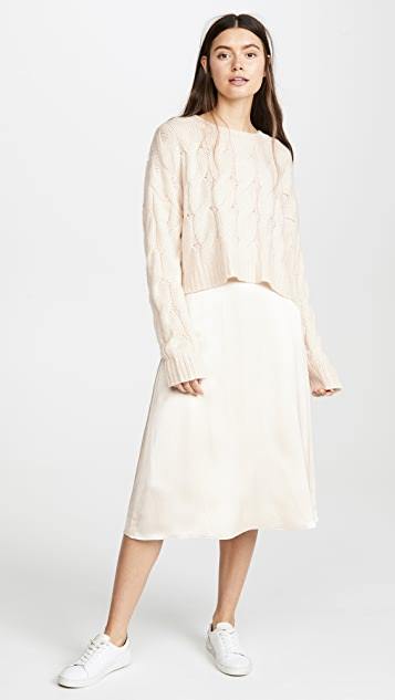Theory Faux Wrap Skirt