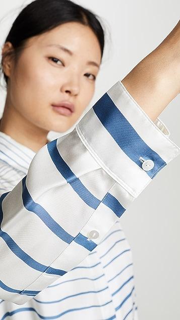 Theory Платье-рубашка с поясом