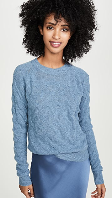 Theory Tucked Cashmere Sweater