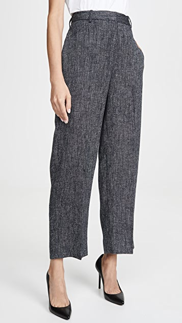 Theory High Waisted Straight Pants