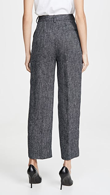 Theory High Waisted Straight Pants
