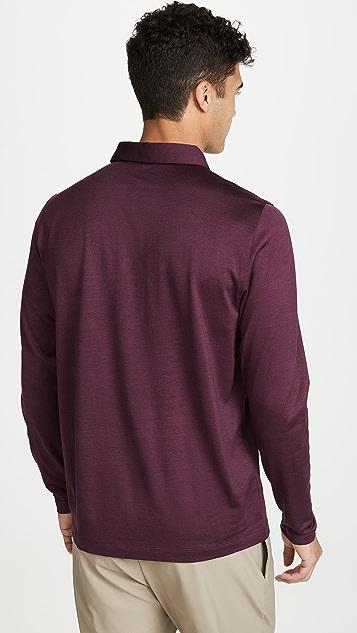 Theory Sartorial Long Sleeve Polo