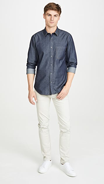 Theory Irving Denim Button Down Shirt