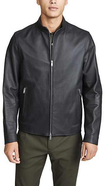 Theory Morvek Leather Jacket