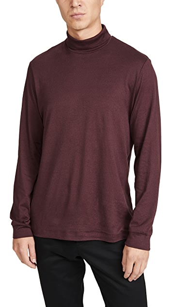 Theory Funnel Cotton Cashmere Turtleneck
